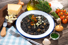 Black Risotto Royalty Free Stock Images
