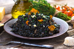 Black Risotto Royalty Free Stock Photos