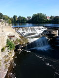 Black river. Mill st. Bridge Watertown NY Stock Image
