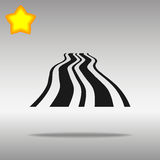 Black Road Icon button logo symbol concept high quality Royalty Free Stock Images