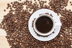 Black roasted arabica coffee beans Royalty Free Stock Photos