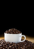 Black roasted coffee beans Stock Photography