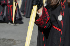 Black robe detail Stock Photos