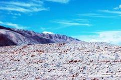 Black Rock in Arizona. View of Black Rock in desert of Arizona Stock Photos