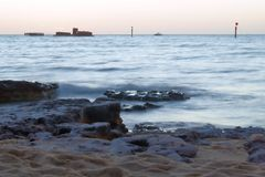 Black rock beach, Victoria Australia Stock Images