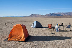 Black Rock Desert Playa Campsite Stock Photo