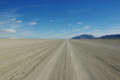 Black Rock Desert Playa, wide open, Nevada. Black Rock Desert Playa near Gerlach, Nevada Stock Photo