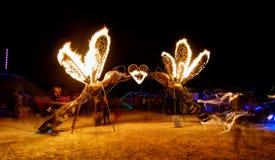 Black Rock Desert, USA - 2nd of September 2016: Burning Man. Taken in 2015 stock photos