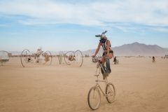 Black Rock Desert, USA - 2nd of September 2016: Burning Man. Taken in 2015 royalty free stock images