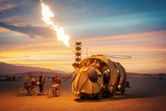 Black Rock Desert, USA - 2nd of September 2016: Burning Man royalty free stock photo