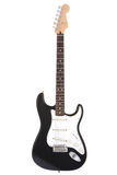 Black rock guitar. Isolated on white Royalty Free Stock Photos