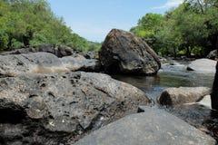 Black Rock-Large rapids Stock Photos