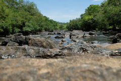 Black Rock-Large rapids. These beautiful and large rapids are in the Sai Yai River. It is most popular for the challenging and enjoyable whitewater rafting Stock Images