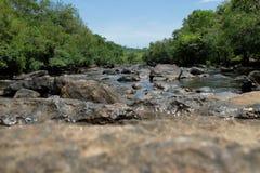 Black Rock-Large rapids Stock Images