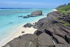 Black Rock Rarotonga Cook Islands royalty free stock photo