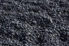 Rocks at Vik Beach. The black rocks at Vik beach Stock Images