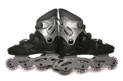 Black roller blades Royalty Free Stock Photos