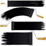 Black Roller Brush on White Background. Vector Royalty Free Stock Photography
