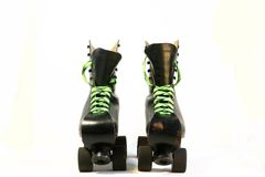 Black rollerskates Royalty Free Stock Image