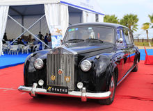 Black rolls-royce car Royalty Free Stock Image