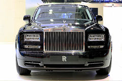 Black Rolls Royce luxury car Stock Photos