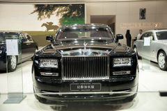 Black rolls-royce phantom extended edition car Royalty Free Stock Photo
