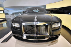 Black Rolls Royce Phantom limousine on display in BMW Museum Royalty Free Stock Photos