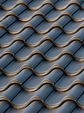 Black roof tiles Royalty Free Stock Images