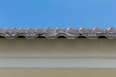 Black roof tiles on house Royalty Free Stock Images