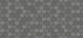 Black roof tiles. Seamless pattern - vector illustration Stock Photo
