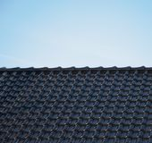 Black rooftop Stock Images