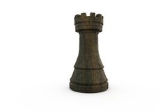 Black rook chess piece Royalty Free Stock Photos