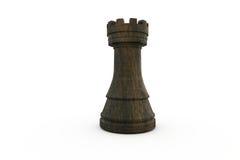 Black rook chess piece Royalty Free Stock Photos