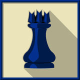 Black rook. Chess. Black rook on a white background Royalty Free Stock Images