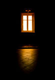 Black room, mysterious window light Stock Photo