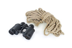 Black and rope binoculars Royalty Free Stock Photo
