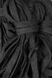 Black rope fasten Stock Image