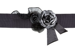 Black Rose fabric on a belt royalty free stock photography