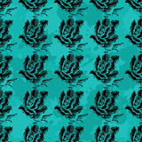 Black rose in a gentle background of beautiful seamless pattern Royalty Free Stock Photo