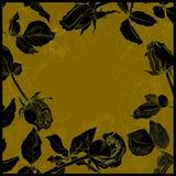 Black roses background Royalty Free Stock Photos