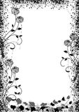 Black roses frame. Black roses silhouette frame with space for your text Royalty Free Stock Photo