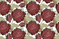 Black roses pattern Stock Images