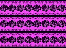 Black roses on a purple background. Royalty Free Stock Photo