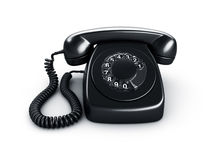 Black rotary phone Royalty Free Stock Photos