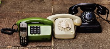 Black Rotary Phone Stock Photos