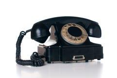 Black rotary phone Royalty Free Stock Photos