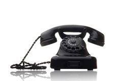 Black rotary telephone Stock Photography