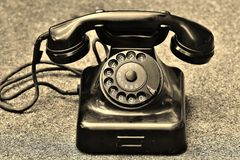 Black Rotary Telephone Stock Image