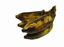 Black rotten banana Royalty Free Stock Photo