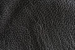 Black rough leather textured background Stock Photos